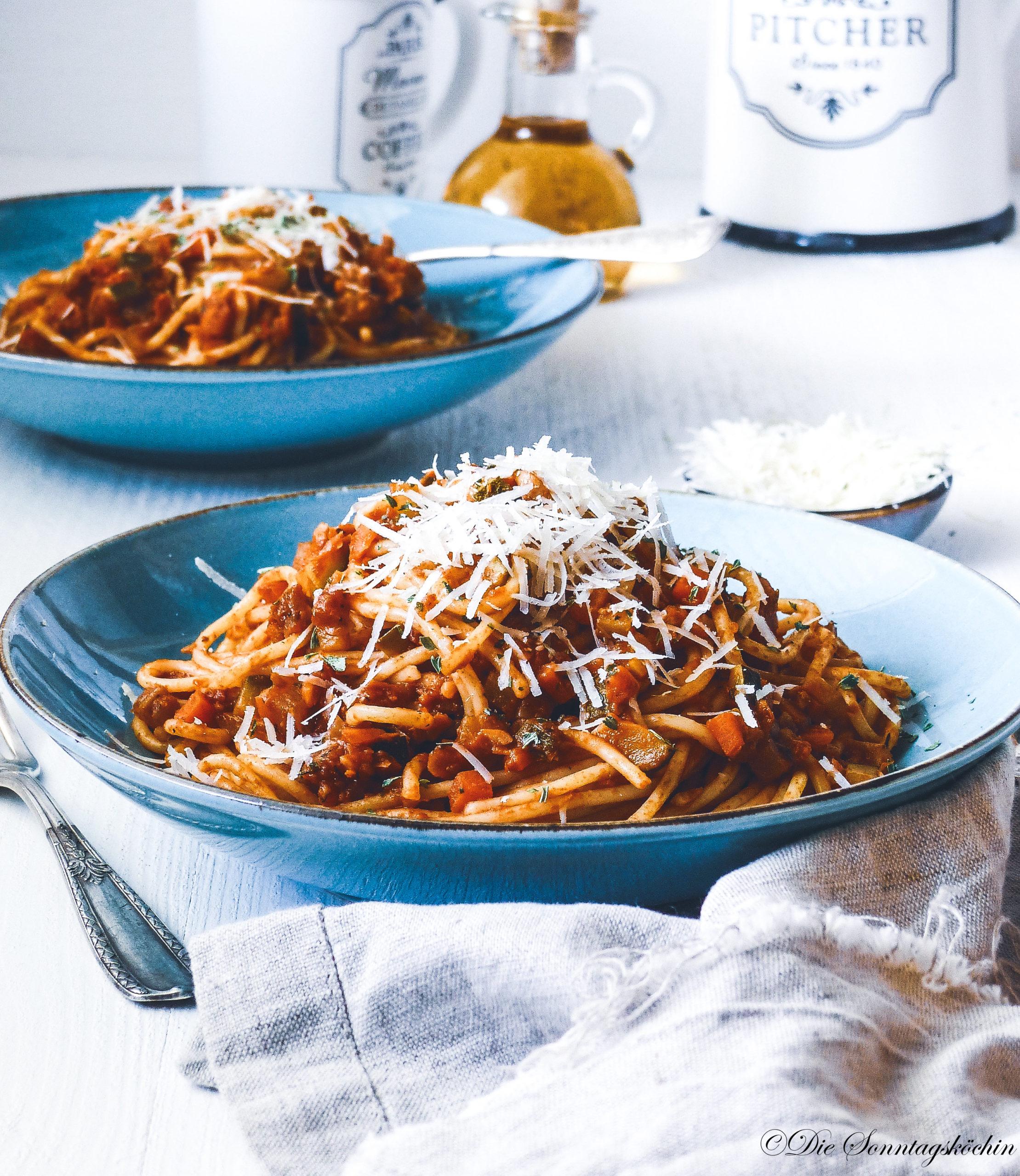 Vegetarische Bolognese mit Kichererbsen