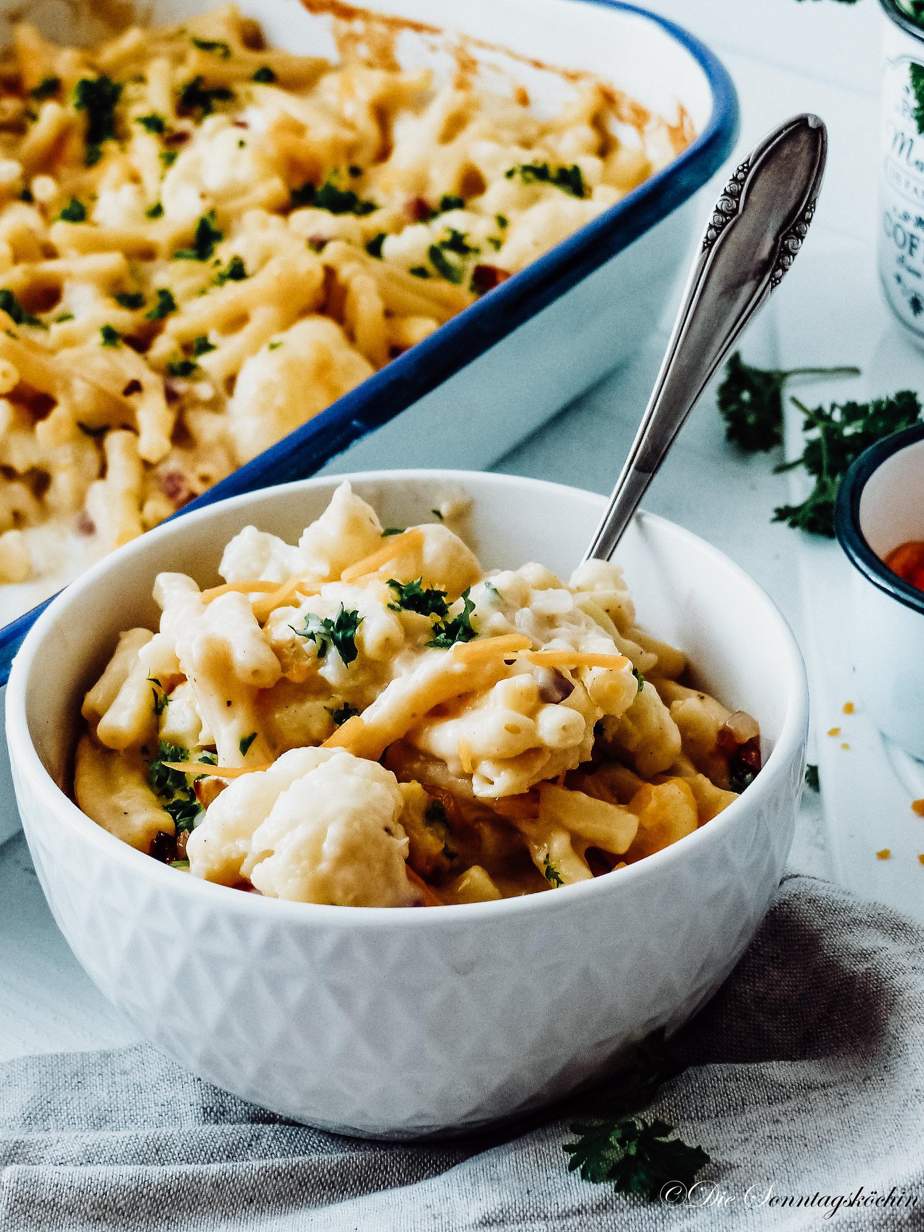 Mac & Cheese Auflauf mit Blumenkohl